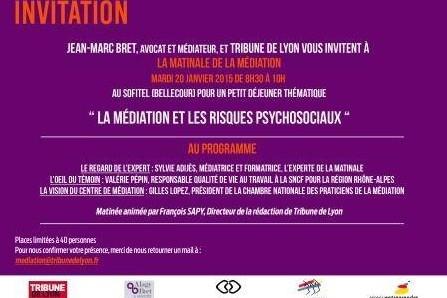 Matinales de la Médiation à Lyon